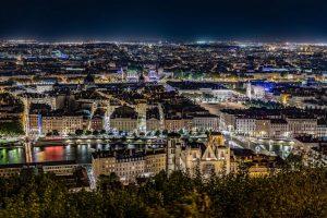 vue de fourviere à Lyon